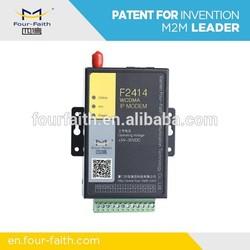 F2414 rs485 gprs modem WCDMA / HSDPA modem rs485 connect plc meter