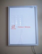 magnetic advertising aluminum snap frame led light up poster frame