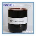 Edta Fe 7% cas 16455 - 61 - 1 liquide engrais