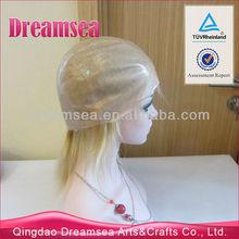 Short hair wig virgin peruvian human hair full thin skin wigs cheap price #613 blonde straight wig for white women