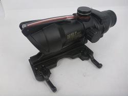 SUNGUN Airsoft Tactical Trijicon ACOG TA31 1x30 Red Dot Sight with Fiber Cable & Quick Detach Lever Mount, HD-2C w/ QD Mount