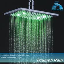 JFQ045CP Unique LED light Eco power big rain shower head