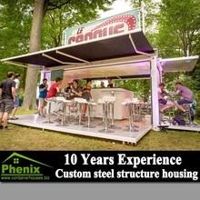 fast food restaurant new design mobile modular prefabricated restaurant