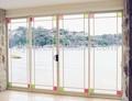 Décoratifs en verre low-e porte coulissante avec cadre en aluminium