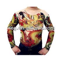 Tattoo Shirt Mesh Sleeve Temorary Arm Body Art Sport T-Shirt