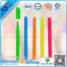 advertising neon highlighter flower & star shape colored highlighter pen