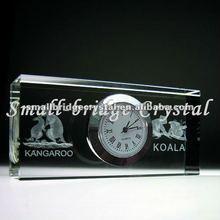 popular crystal desktop clock digital clock time clock for business gift SB-BJ0037
