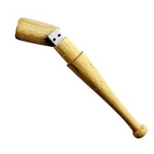 wooden cool gadgets ball bat usb flash pen drives 32gb