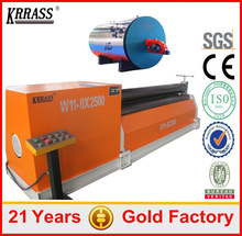 Industrial Price 3 placa rodillo de la maquina de flexion,used plate rolling machine