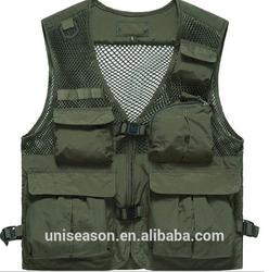 OEM custom-made multi pocket fishing vest men