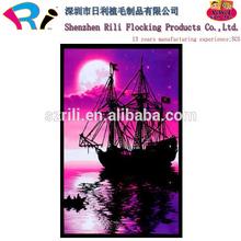 High Quality UV Blacklight Velvet Art Poster Printing,Glow in the Black Velvet Posters