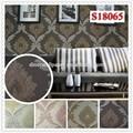a prueba de agua de vinilo papel pintado nuevo diseño clásico patrón de pvc para paredes