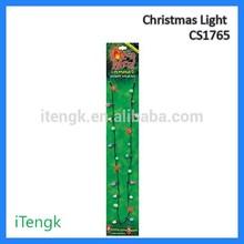 Christmas Holiday Flashing Light Bulbs Necklace