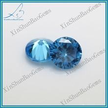 Wholesale loose round aquamarine blue zircon stones