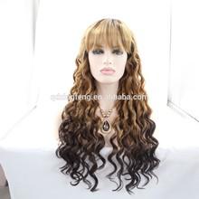 super quality deep wave japanese kanekalon braiding hair wigs wholesale