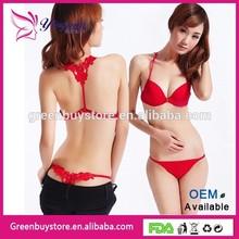 Hot Selling 2014 New Women's Lace Thongs G-string Bikini Lingerie Underwear Bra Set