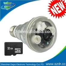 2014 Hottest 720P HD Hidden Camera With Night Vision Function And Micro SD Card Slot, Lamp style CCTVCamera
