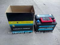High quality 12V45AH Mf car battery battery heated blankets