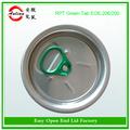 La muestra libre de aluminio 206 # dongguan alta calidad azul anillo de bebidas de fácil apertura tapas