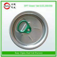 Free sample aluminium 206# dongguan high quality Blue ring Beverage easy open caps