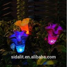 tulip flower solar lighting for home garden decoration