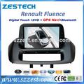 Zestech venta al por mayor del OEM del coche dvd gps para Renault Fluence 2 din radio de coche con de navegación de China con gps bluetooth sintonizador de TV