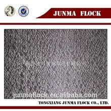 Grey Junma stripe pattern China textile flocked velvet fabric for new balance shoes