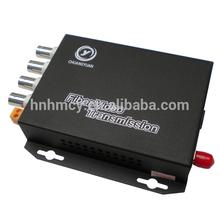 Good Quality 4 CH Video+ Data + Audio + Ethernet over Fiber Transmitter & Receiver