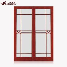 House door design glass sliding door wood sapele mahogany
