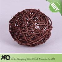 providing 3cm to 25cm decorative rattan ball for holiday decoration