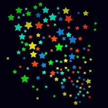 Temporary Feature Tattoo Sticker glow in the dark stars temporary tattoo