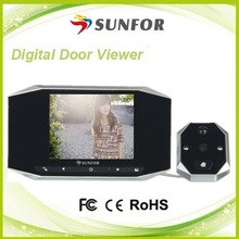 """alibaba express in electronics 3.5"""" tft lcd smart door viewer peephole camera video dvr night vision 130 degree 2nd generation"""