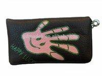 fine workmanship handbag zipper leather mobile phone cover for Nokia