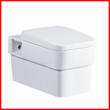 Hot sale sanitary ware price low bathroom pottery wall hang commode 8108