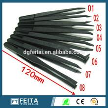 Cleaning tool ESD Antistatic Black / white Plastic tweezers