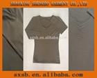 shaoxing shengbo latest style v neck t shirt wholesale for women