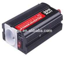 high quality inverter 12v 230v 50hz 300w EU socket small size