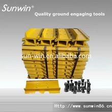 Heavy equipment excavator Volvo undercarriage parts , EC150 excavator track pads , Excavator Track Group