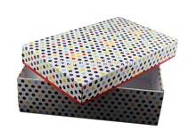 top end dot printed shoe box color box