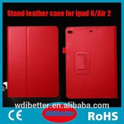 Lychee Pattern Folder Case Wholesale PU Leather Case For Ipad 6