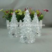 small mini crystal Christmas tree glass plant arts