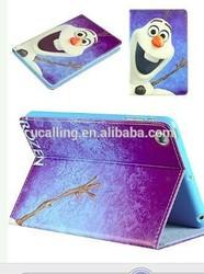 For iPad mini 3 Cartoon Frozen Girl Elsa PU Leather Case