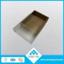 Brown kraft paper box with PVC sleeve