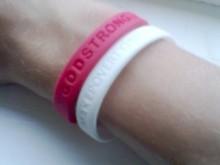 Custom thin silicone wristband