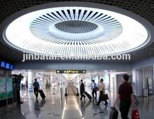 suspended irregular shaped metal ceiling