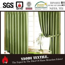 High quality 100% polyester blackout fabric curtain for sale