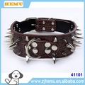 100% PU LEATHER PUNK STYLE PET SPIKE COLLAR FOR BIG DOG