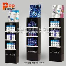 printed pop corrugated cardboard rack shampoo display stand