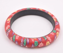 Wholesale handmade Flower Polymer Clay bangle Bracelet