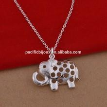 925 silver elephant pendant necklace